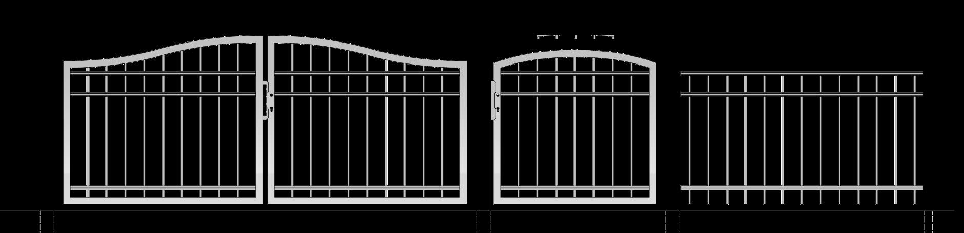 Zaun Und Gartentor Aus Metall Selber Gestalten Zaunkonfigurator24 De